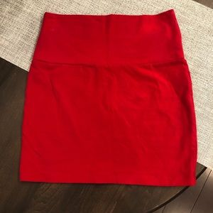 Stretchy Red Mini Skirt